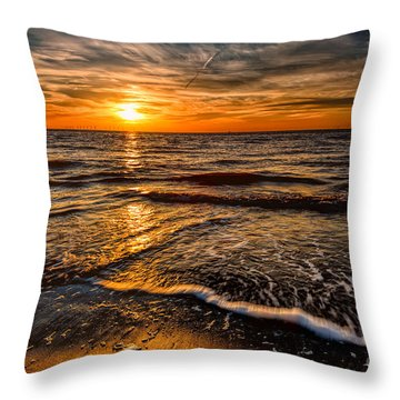 The Sunset Throw Pillow by Adrian Evans
