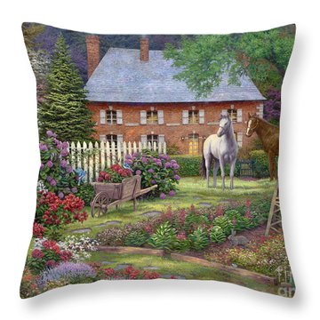 The Sweet Garden Throw Pillow by Chuck Pinson