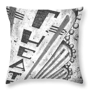The Theater Throw Pillow by Adam Zebediah Joseph