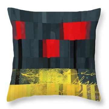 The Three Trees - J021580118  Throw Pillow by Variance Collections