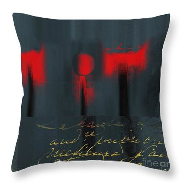 The Three Trees - J22206237a Throw Pillow by Variance Collections