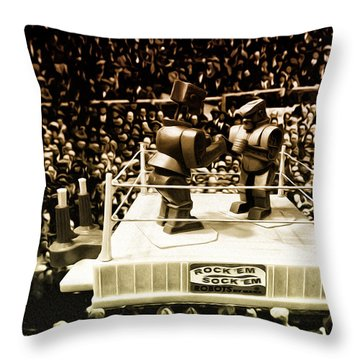 The Thrilla In Toyvilla Throw Pillow by Bill Cannon