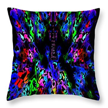 The Tower In Abstract Art Throw Pillow by Mario Perez