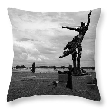 The Trumpet Sounds At Gettysburg Throw Pillow by James Brunker