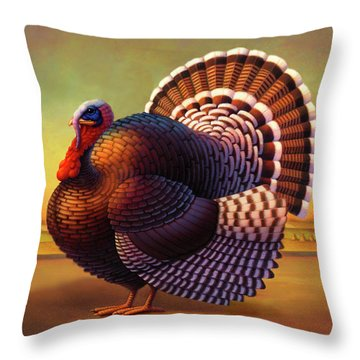 The Turkey Throw Pillow by Robin Moline