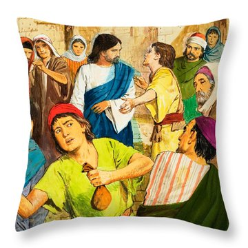 The Two Brothers Throw Pillow by Clive Uptton
