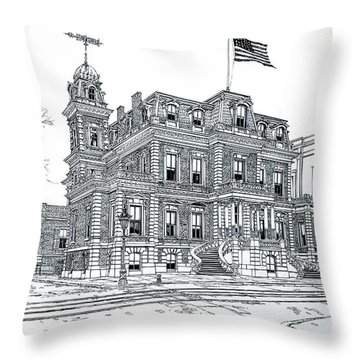 The Union League Philadelphia 1867 Throw Pillow by Ira Shander