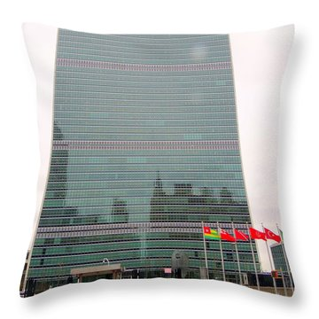 The United Nations Throw Pillow by Ed Weidman