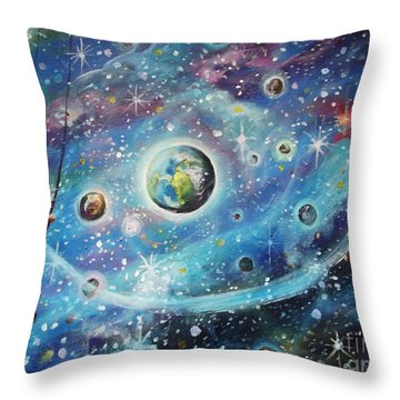 The Universe Is My Playground Throw Pillow by Dariusz Orszulik