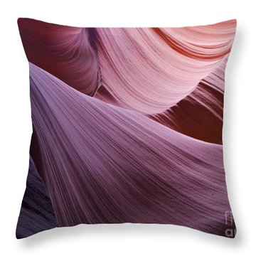 The Veil At Antelope Canyon Throw Pillow by Alex Cassels