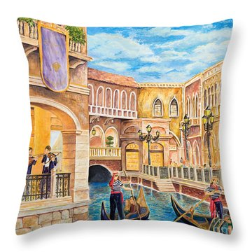 The Venetian Canal  Throw Pillow by Vicki  Housel