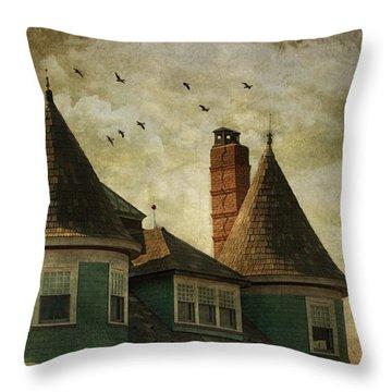The Victorian Throw Pillow by Fran J Scott