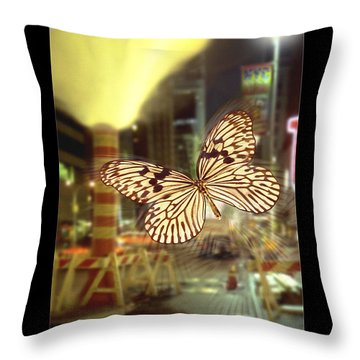 The Visitor Throw Pillow by Mike McGlothlen
