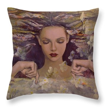 The Voice Of The Thoughts Throw Pillow by Dorina  Costras