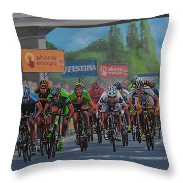 The Vuelta Throw Pillow by Paul Meijering