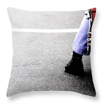 The Wait  Throw Pillow by Karol Livote