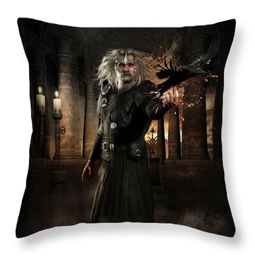 The Warlock Throw Pillow by Shanina Conway