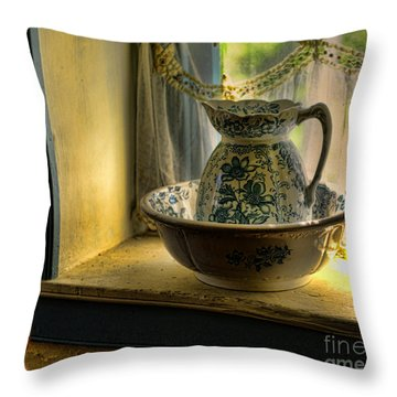 The Wash Basin Throw Pillow by Paul Ward
