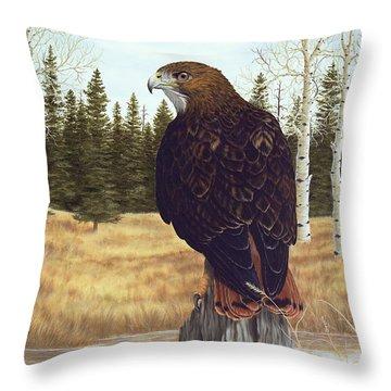 The Watchful Eye Throw Pillow by Rick Bainbridge