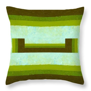 The Way Is Open Throw Pillow by Michelle Calkins