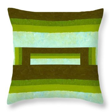The Way Is Shut Throw Pillow by Michelle Calkins