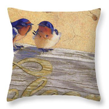 The Welcome Committee Throw Pillow by Tracy L Teeter