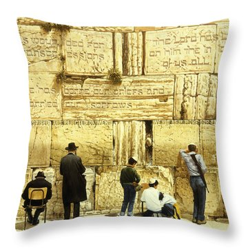 The Western Wall  Jerusalem Throw Pillow by Graham Braddock