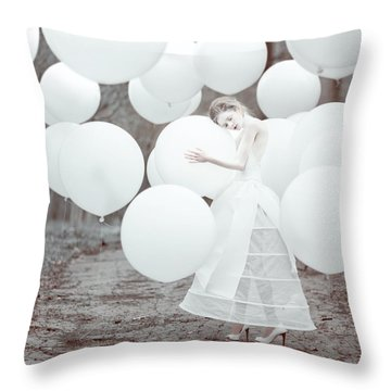 The White Dream Throw Pillow by Anka Zhuravleva