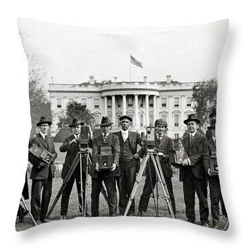 The White House Photographers Throw Pillow by Jon Neidert