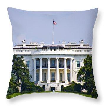 The Whitehouse - Washington Dc Throw Pillow by Bill Cannon