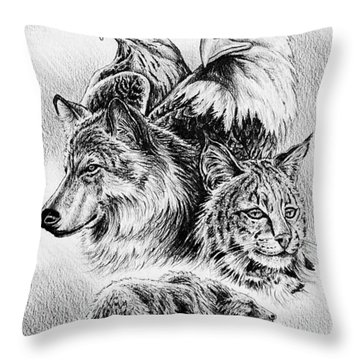The Wildlife Collection 1 Throw Pillow by Andrew Read