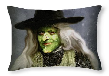 The Witch Of Endor As A Cavalier Throw Pillow by RC deWinter