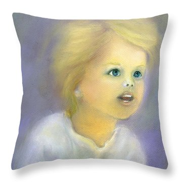 The Wonder Of Childhood Throw Pillow by Loretta Luglio