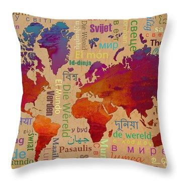 The World Throw Pillow by Bedros Awak