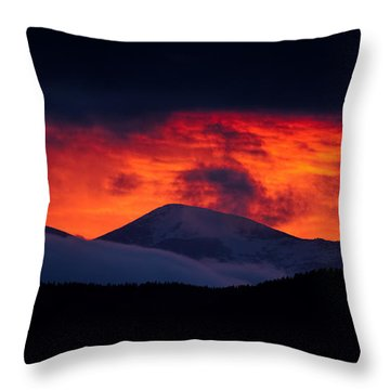 Thee Red Light District Throw Pillow by Jim Garrison