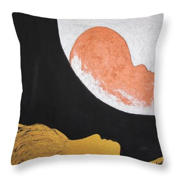 ..then The Moon Come To Kiss Good Bye... Throw Pillow by Marianna Mills