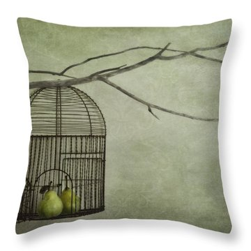 There Is A World Outside Throw Pillow by Priska Wettstein