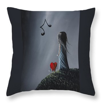 They Feel Your Love Song - Surreal Art By Shawna Erback Throw Pillow by Shawna Erback