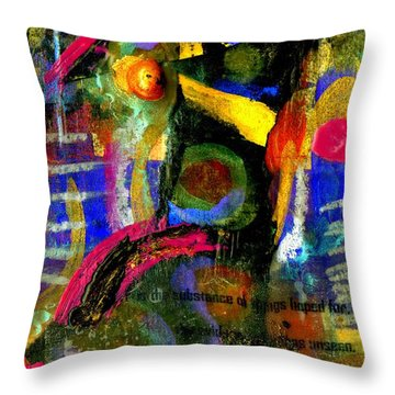 Things To Come Throw Pillow by Angela L Walker