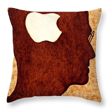 Think Different Tribute To Steve Jobs Throw Pillow by Georgeta  Blanaru