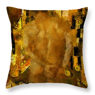 Thinking About You Throw Pillow by Kurt Van Wagner