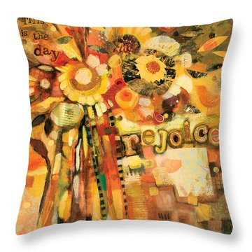 This Is The Day To Rejoice Throw Pillow by Jen Norton