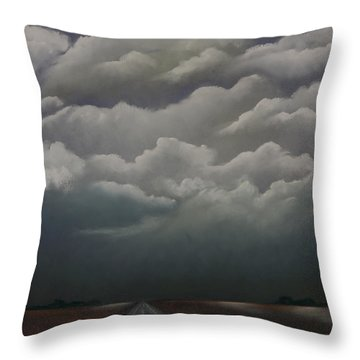 This Menacing Sky Throw Pillow by Cynthia Lassiter