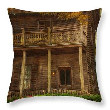 This Old House Throw Pillow by Kim Hojnacki