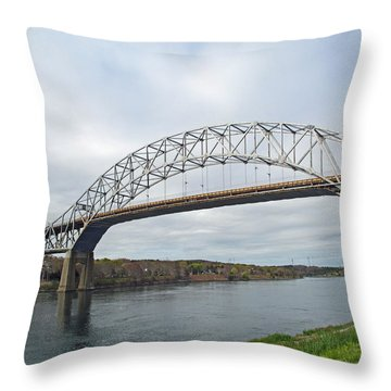 This Way To The Cape Throw Pillow by Barbara McDevitt