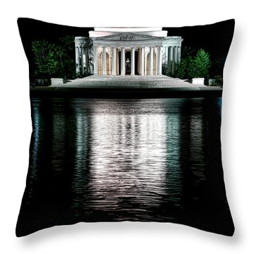 Thomas Jefferson Forever Throw Pillow by Olivier Le Queinec