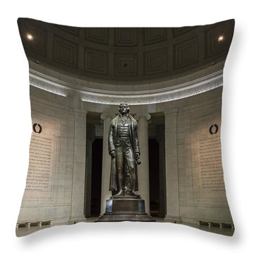 Thomas Jefferson Memorial At Night Throw Pillow by Sebastian Musial