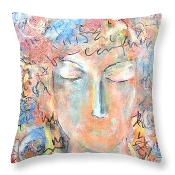 Thoughts Throw Pillow by Chaline Ouellet