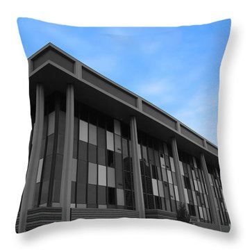 Three Story Selective Color Building Throw Pillow by Bill Woodstock