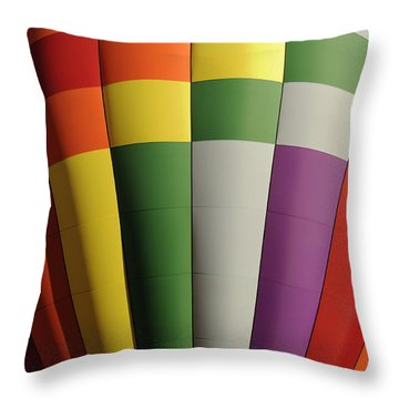 Three Two One Liftoff Throw Pillow by Luke Moore